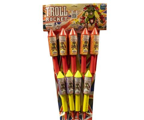 Troll rocket vuurwerk siervuurwerk sierpijlen belgie klasek